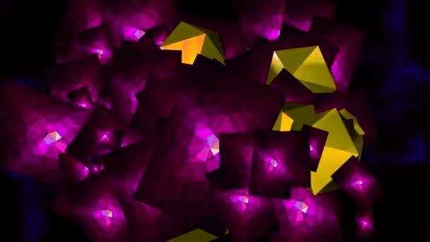 tanec z barevných ozdob na obrazovce