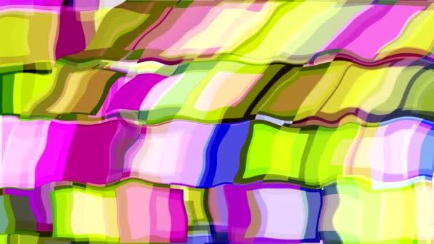 Tanz der farbigen Dekorationen auf dem Bildschirm