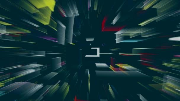 Tanz geometrischer Formen auf dem Bildschirm