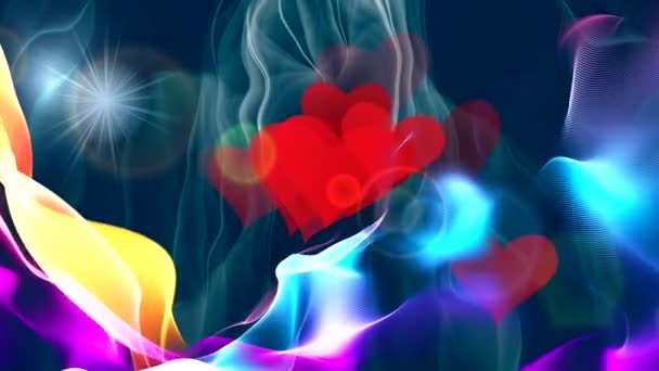 színes láng tánc a képernyőn