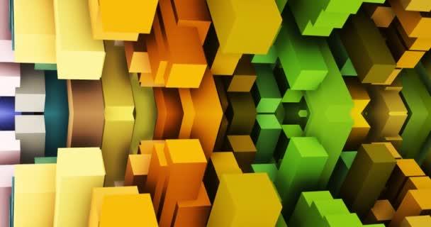 tanec z geometrických tvarů na obrazovce