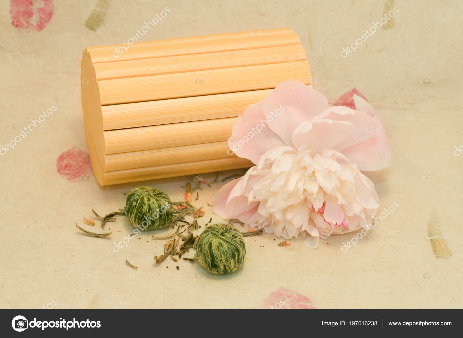 Mix Lotus Flower Chinese Tea Peony Bamboo Stock Photo Foryouinf