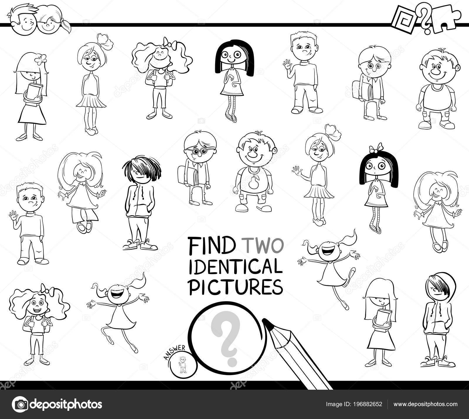 Siyah Beyaz çizgi Film Illüstrasyon Kız Erkek çocuk Karakterleri