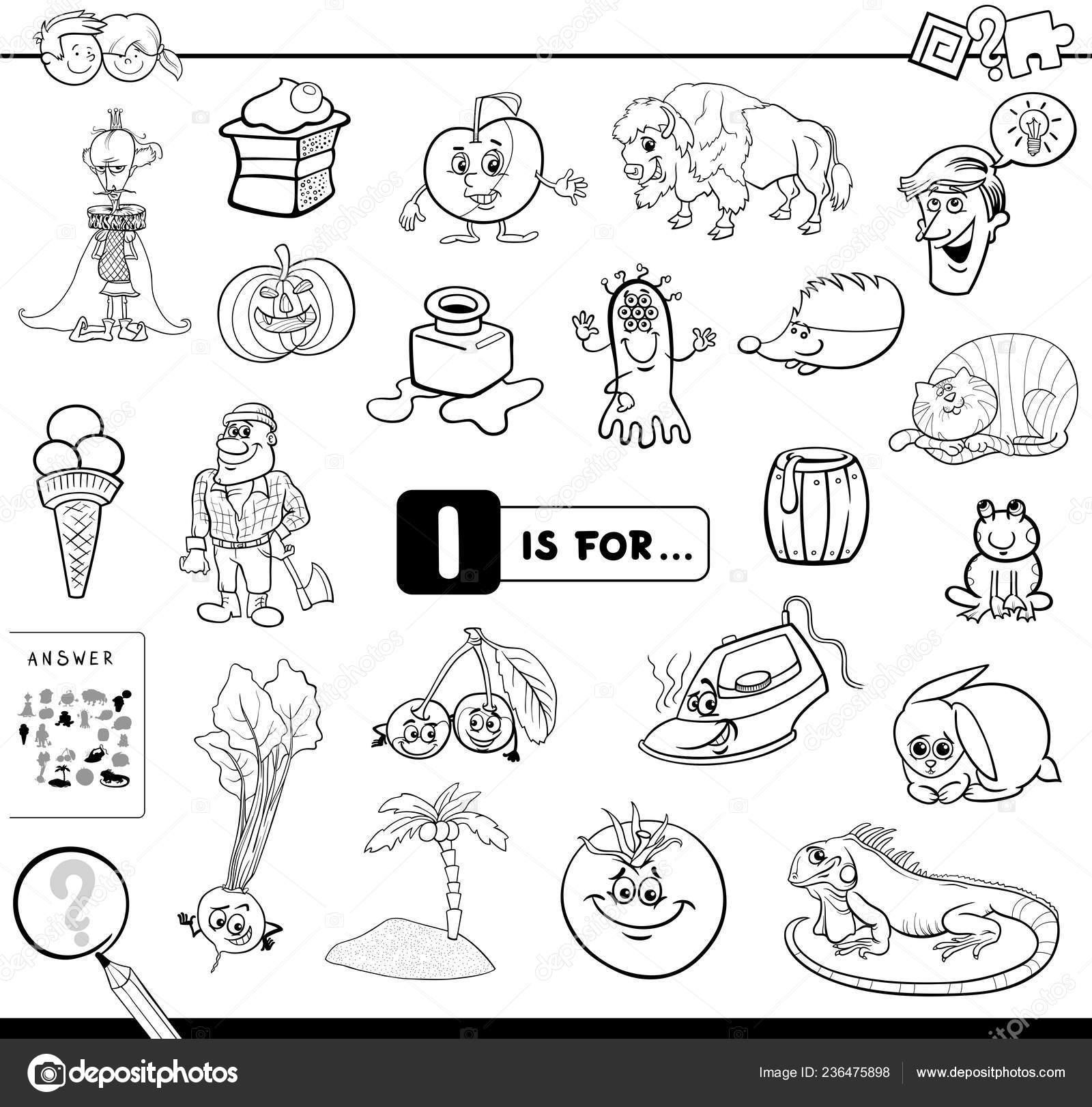 Ilustración Dibujos Animados Blanco Negro Encontrar Imagen Empiezan