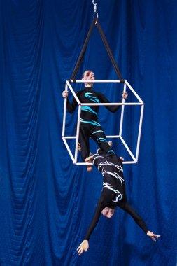 MINSK, REPUBLIC OF BELARUS - JANUARY 12-13, 2019: Festival of air acrobatics