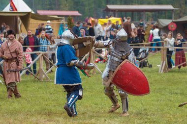 MINSK, REPUBLIC OF BELARUS - MAY 19, 2017: Medieval Festival in Sula. Military competitions