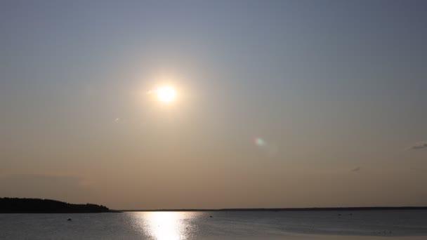 Beautiful sunset with sky over calm sea