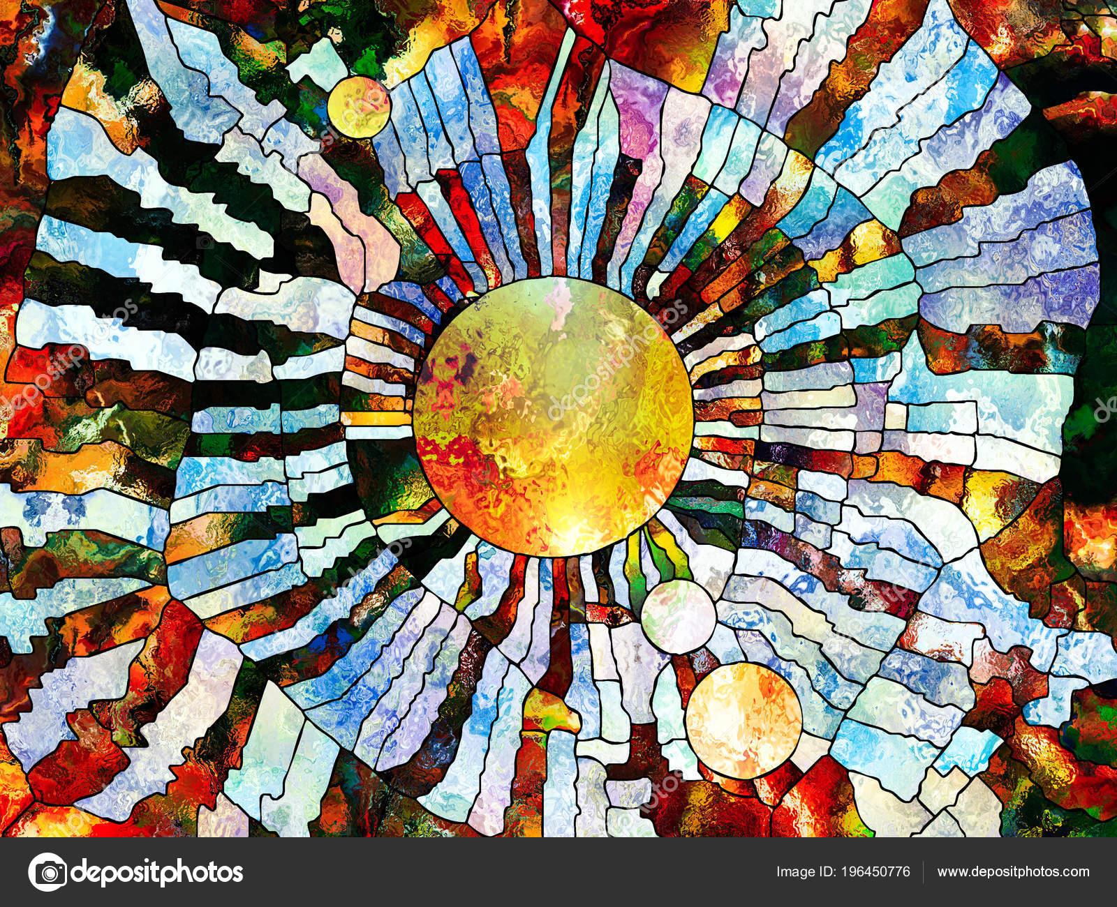 42b4b353cb6657 Série de vitraux pour toujours. Planète stylisée exécuté avec style  mosaïque sur le thème de l'éducation, la science, l'astronomie et la  Nature– images de ...