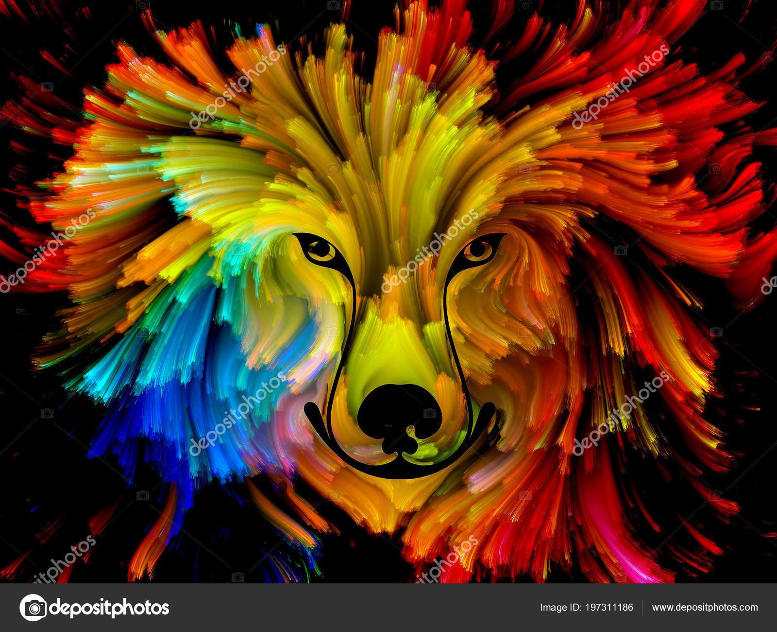 Köpek Boya Serisi Arka Plan Tasarım Sanat Hayal Gücü Yaratıcılık
