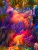 Fotografia Suoni di serie di colore. Progetto di fondo di grumi di vernice digitale per opere arte, illustrazione e design