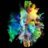 Barevná exploze série. Umělecké abstrakce, složené z barevné pruhy na téma designu, umění a fantazie