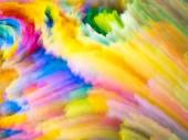 Barevné řady textury. Složení digitální Malování a fraktální mraků na téma dynamická pozadí a dimenzionální kulisy