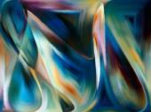 Fotografie Vnitřní barvy série. Abstraktní pozadí z barevné tvary pro použití s projekty na umění, představivost, tvořivost a feminismus