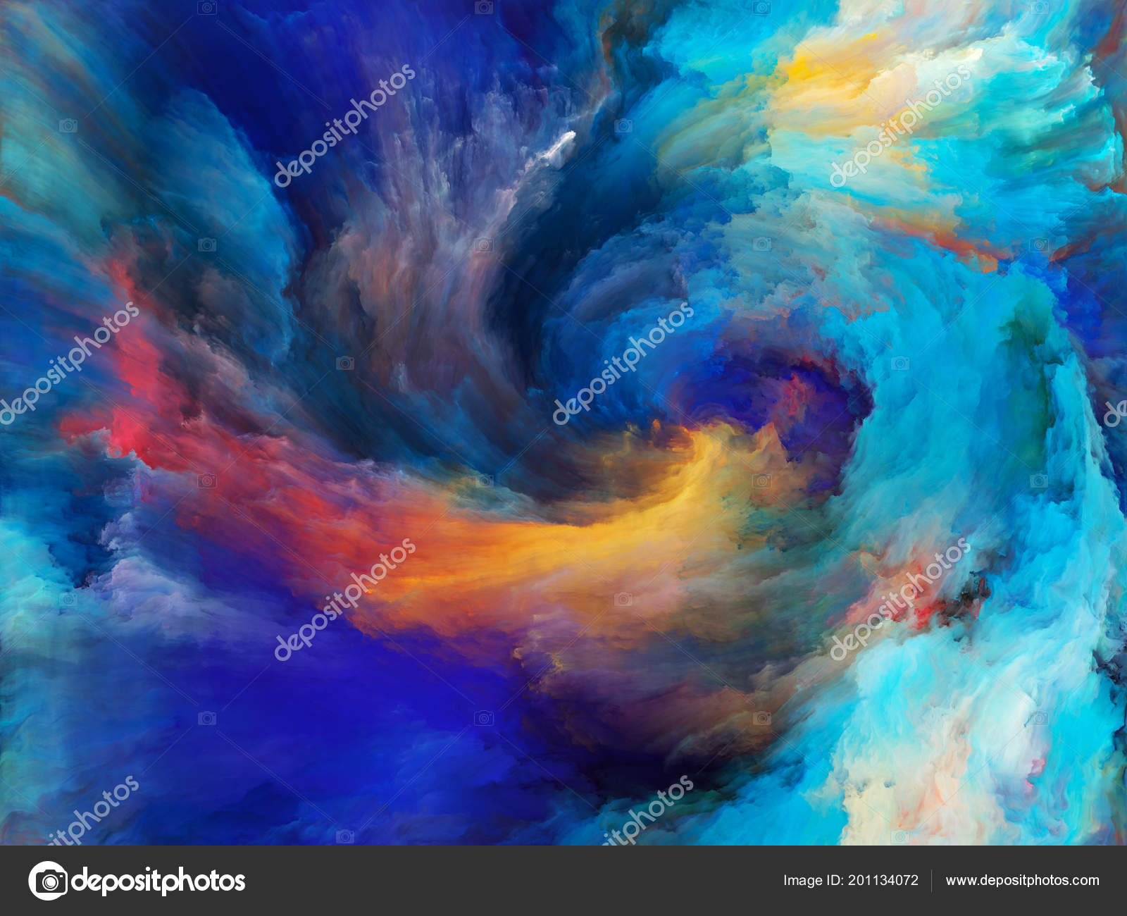 Abstract Color Series Composition Colorful Paint Motion
