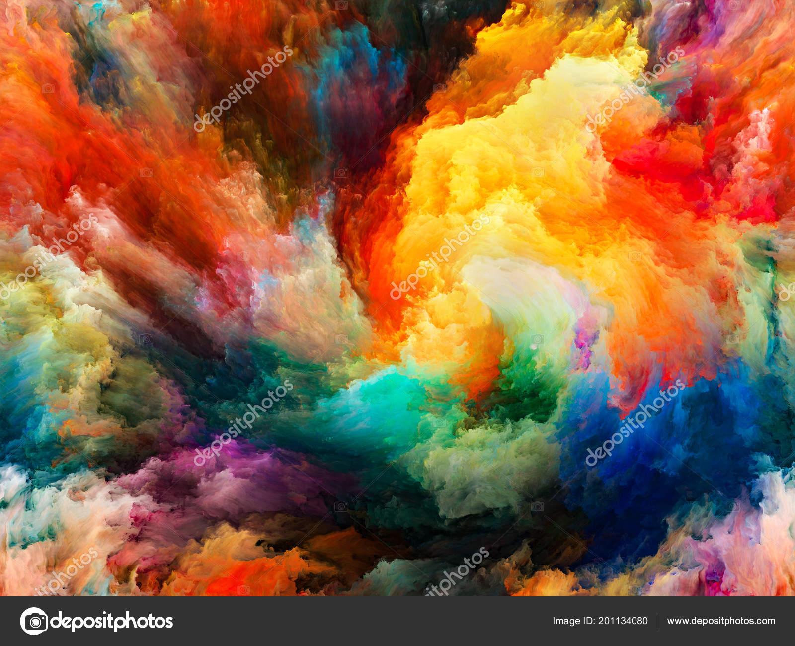 Vibrant Color Wallpaper Paint Motion Subject Creativity Imagination Energy Life Stock Photo