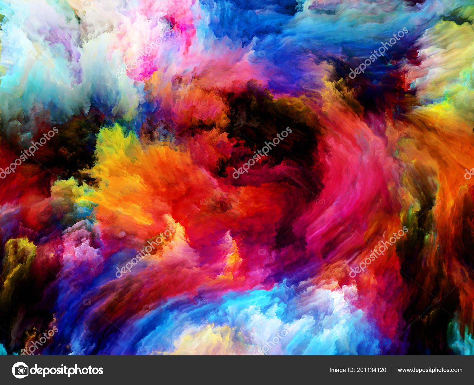 Vibrant Color Wallpaper Paint Motion Subject Creativity ...