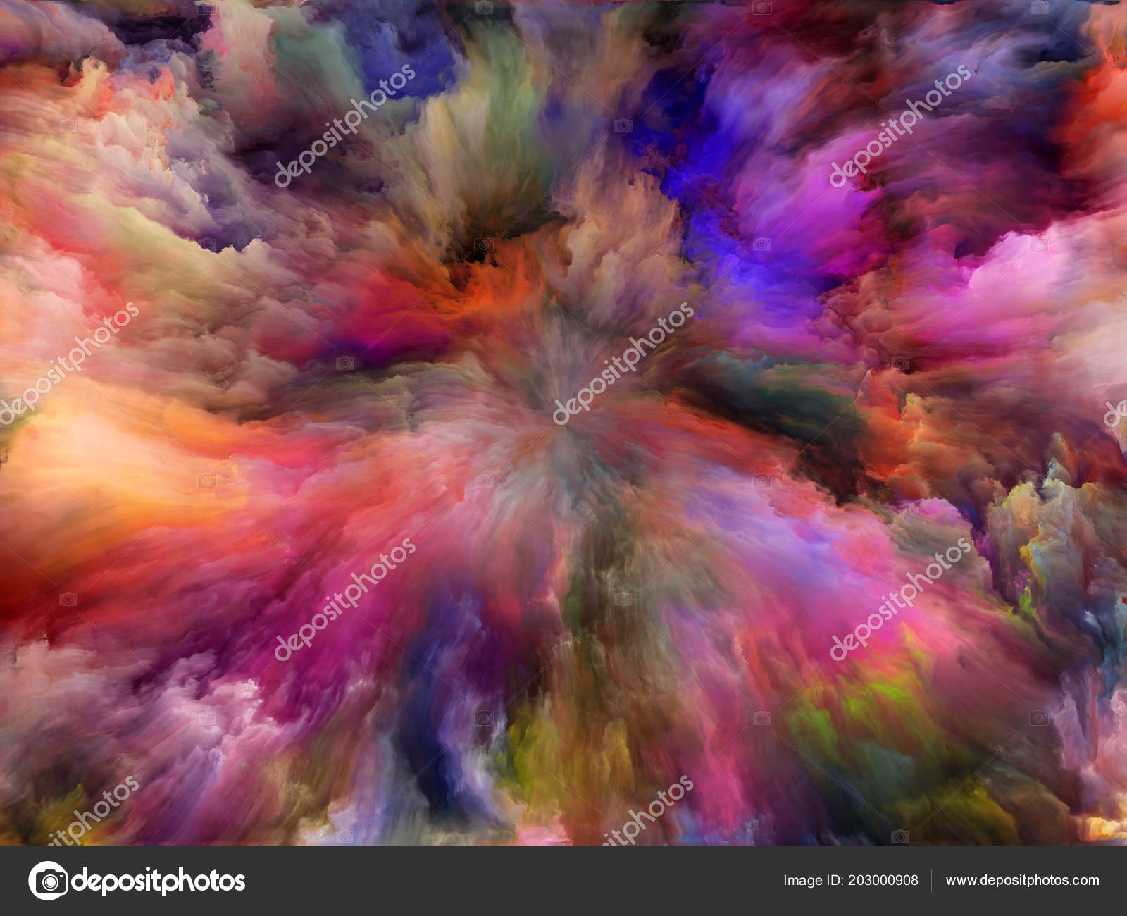 Abstract Color Series Backdrop Colorful Paint Motion Canvas ...
