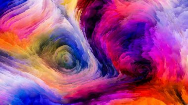 Color In Motion series. Design composed of Flowing Paint pattern as a metaphor on the subject of design, creativity and imagination to use as wallpaper for screens and devices