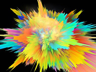 Explosion of saturated virtual paint texture for dynamic backgrounds