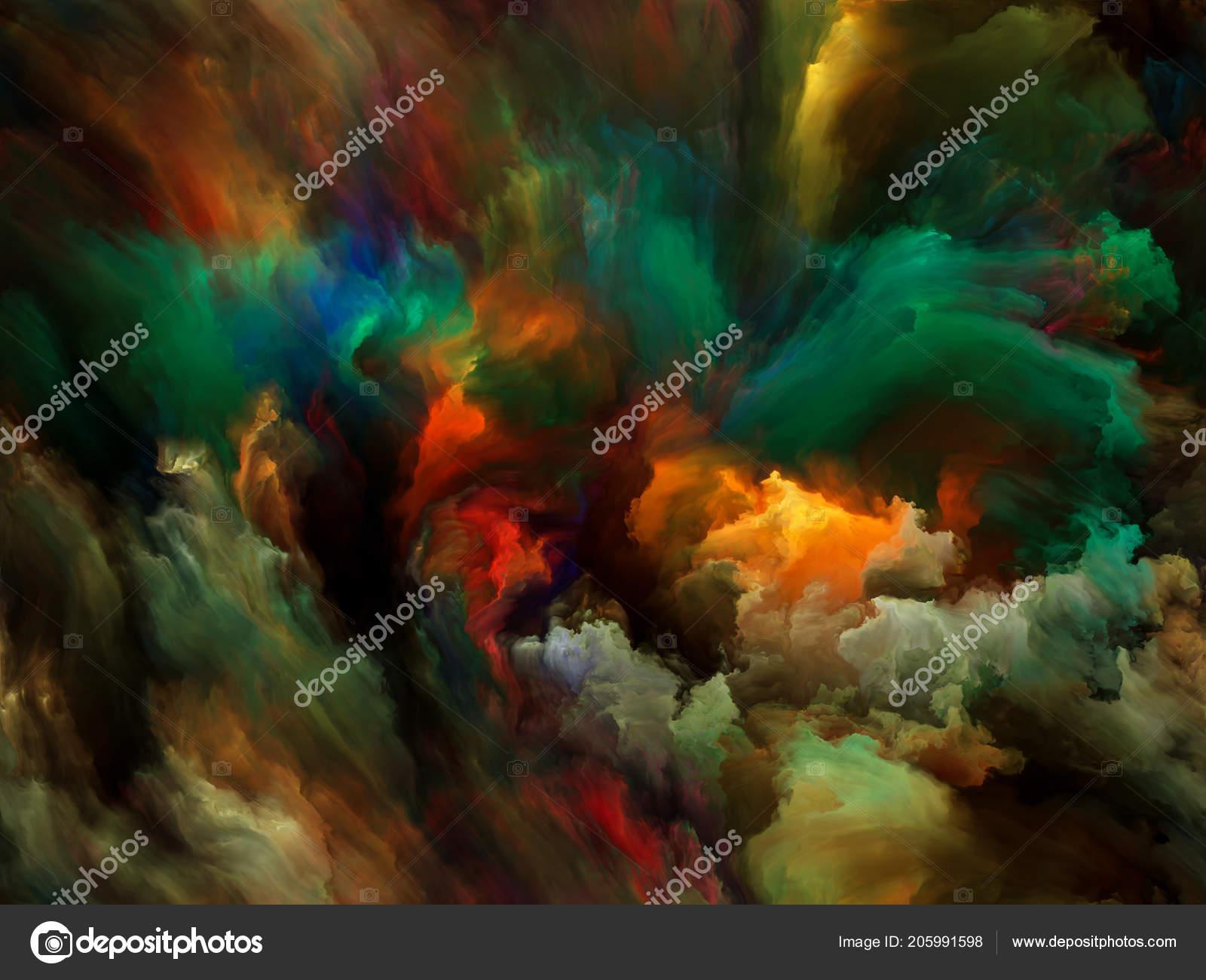 Abstract Color Series Creative Arrangement Colorful Paint