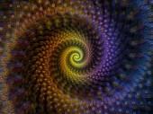 Spirálové geometrii série. Složení rotující vír fraktální prvků na téma z matematiky, geometrie a vědy