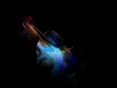 Music Dream series. Design composed of violin and abstract colorful paint as a metaphor on the subject of musical instruments, melody, sound, performance arts and creativity