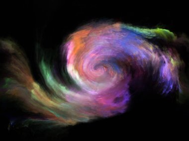 Color Flow series. Backdrop design of streams of digital paint for works on music, creativity, imagination, art and design