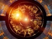 Návrh na základě čísla série. Konstrukce se skládá z číslic a abstraktní prvky jako metafora na téma vědy, informační technologie a matematiky