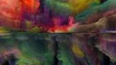 Řada Dream Land. Souhra digitálních barev na téma vesmír, příroda, krajina, malba, tvořivost a představivost