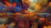 Řada Dream Land. Pozadí návrhu digitálních barev pro funguje na vesmír, příroda, krajinomalby, tvořivost a představivost