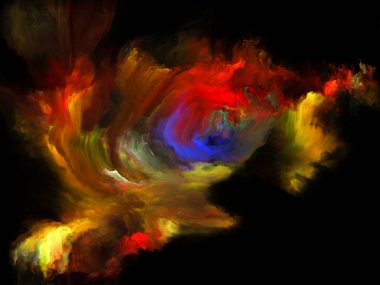 Color Flow series. Backdrop of streams of digital paint on the subject of music, creativity, imagination, art and design