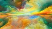 Řada Dream Land. Abstraktní uspořádání digitálních barev, vhodné pro projekty na vesmír, příroda, krajina, malba, tvořivost a představivost
