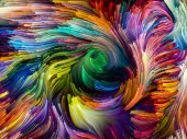Fotografie Liquid Color series. Abstract design made of multi-color paint streaks on the subject of creativity, art and design