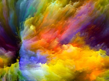 Color Flow series. Abstract composition of streams of digital paint suitable in projects related to music, creativity, imagination, art and design