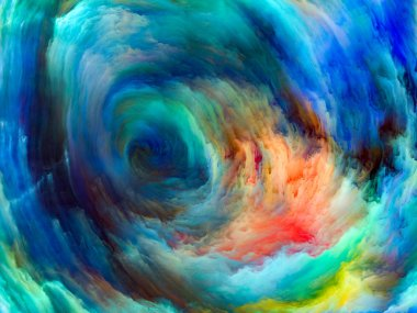 Color Flow series. Composition of  streams of digital paint for projects on music, creativity, imagination, art and design