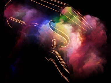 Music Dream series. Background composition of  violin and abstract colorful paint on the subject of musical instruments, melody, sound, performance arts and creativity