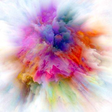 Global Colorful Paint Splash Explosion