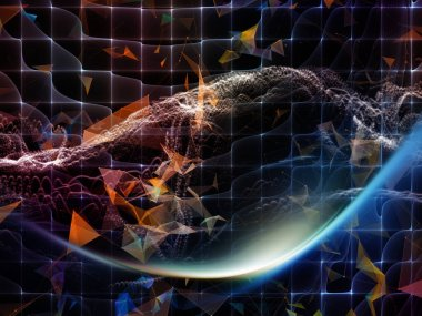 Digital Dreams series. Design composed of technology background with virtual visualization components  as a metaphor on the subject of science, education, computers and modern technology