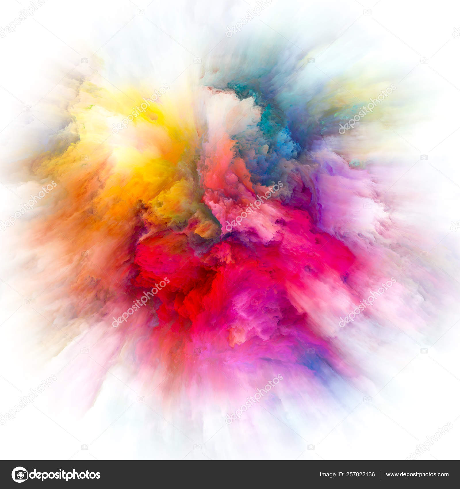 Layers of Color Splash Explosion — Stock Photo © agsandrew #257022136