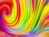 Színes Vihar sorozat. 3D Renderelés színes gerincek virtuális festék szolgálni tapéta vagy háttér a témában a művészet és a design