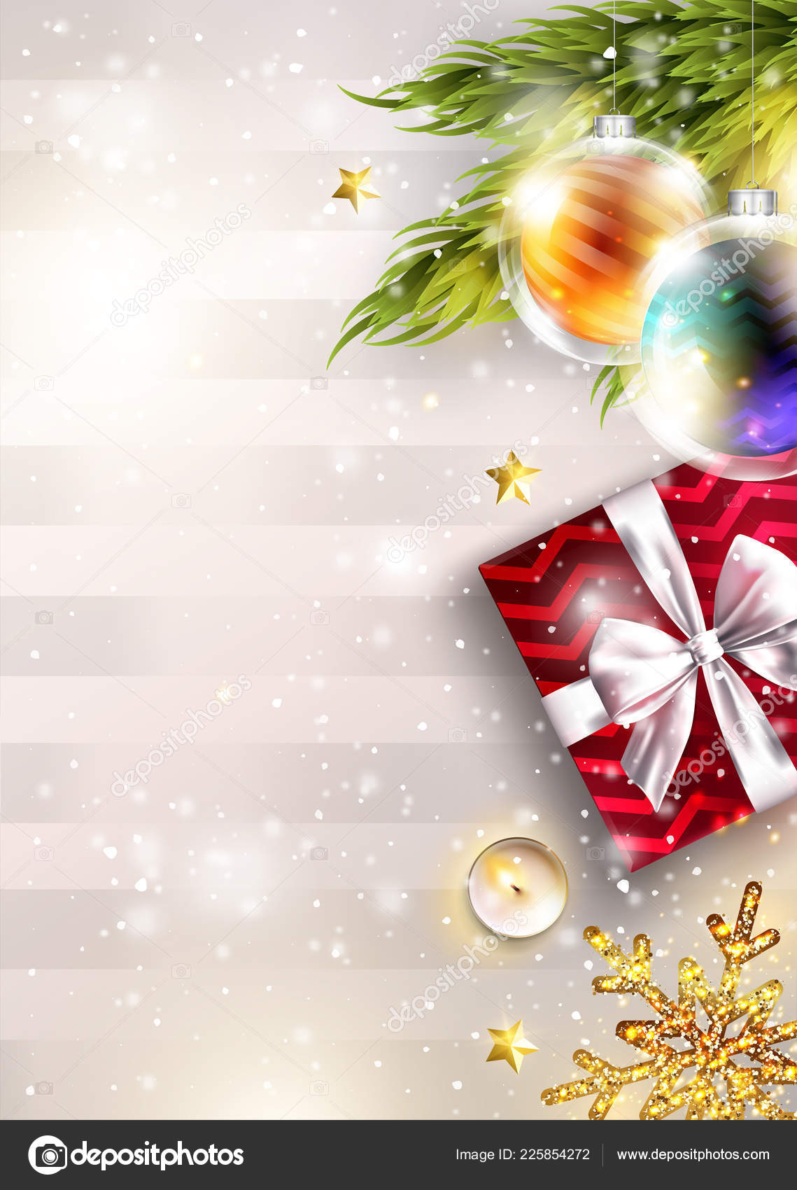 Christmas Graphics 2019.Christmas Vector Background With Copy Space Invitation
