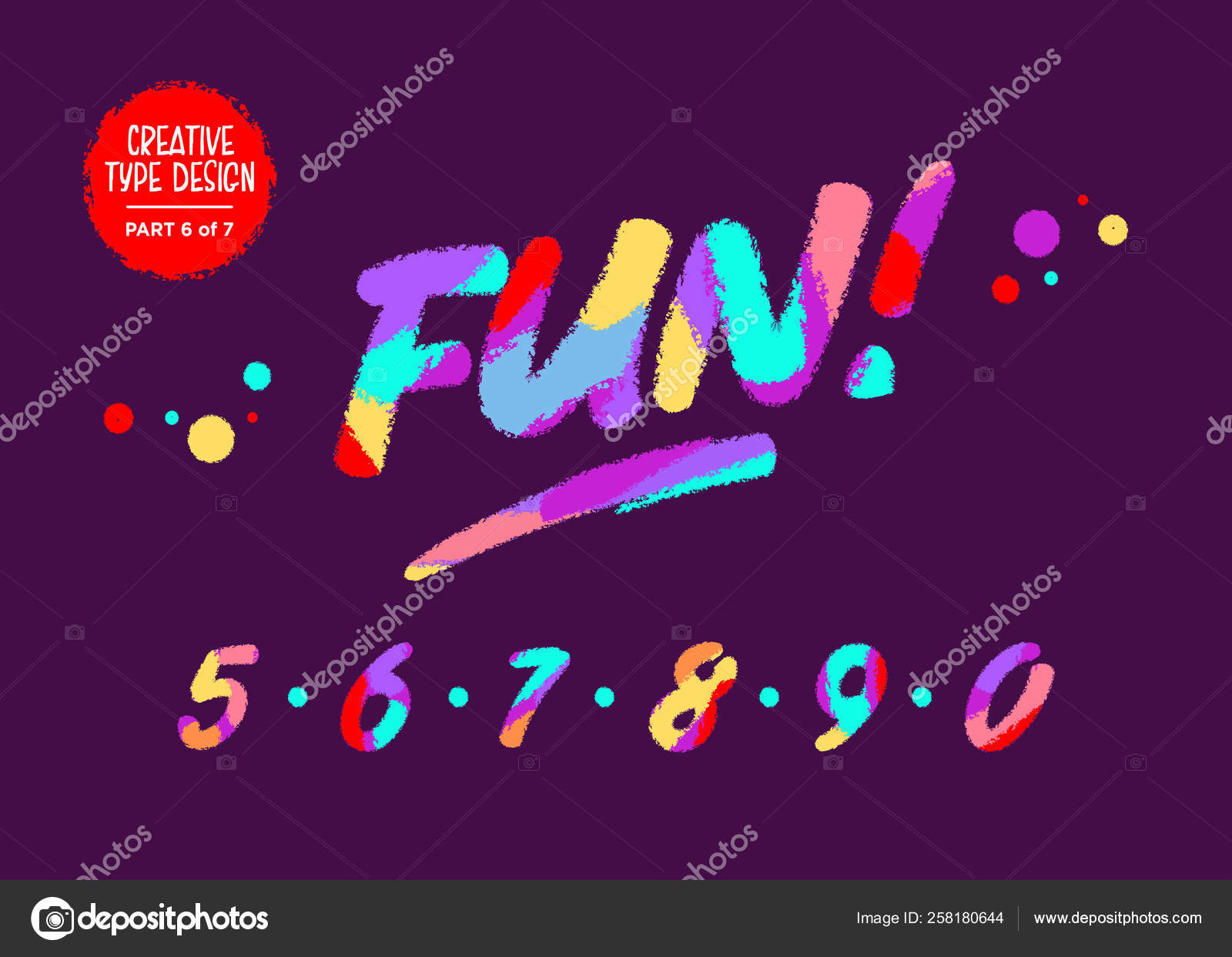Vector Colourful Numbers  Kids Font in Cartoon Style  Funny