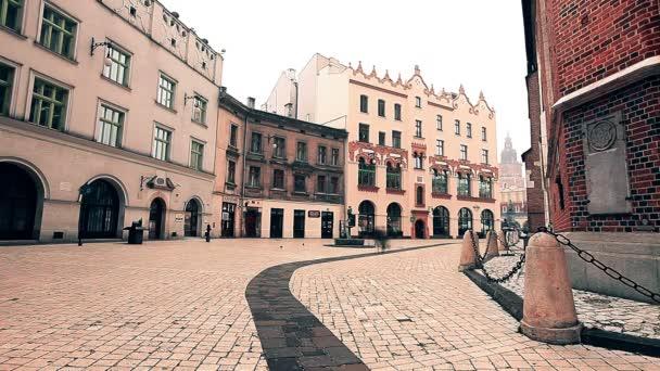 Krakow, Poland, December 18, 2018 - square of Krakow, the old town