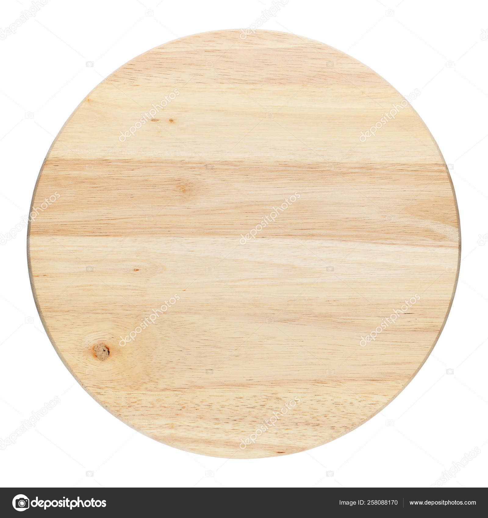 Round Wooden Cutting Board Isolated On White Background Stock Photo C Windujedi 258088170