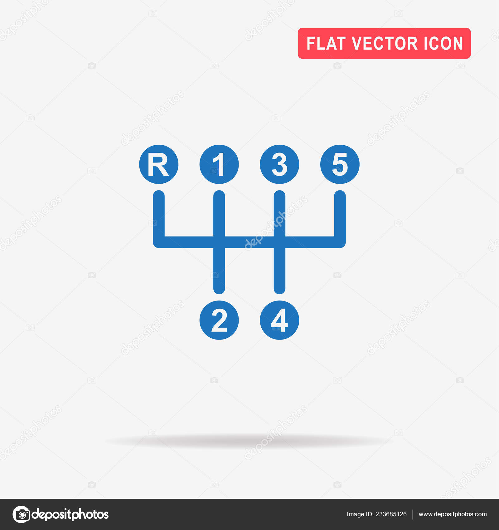 Manual Transmission Sign Icon Vector Concept Illustration Design Stock Vector C Nanovector 233685126