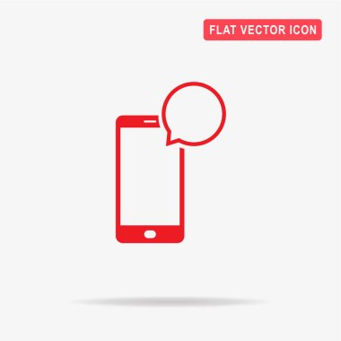 Mobile phone sms icon. Vector concept illustration for design.