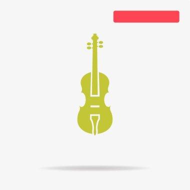 Violin icon. Vector concept illustration for design.