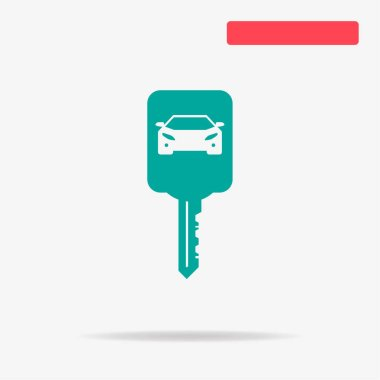 Car key icon. Vector concept illustration for design.