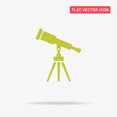 Telescope icon. Vector concept illustration for design.