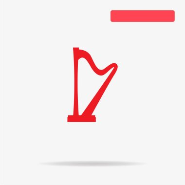Harp icon. Vector concept illustration for design.
